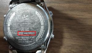 腕時計電池交換_4桁の数字及び型番