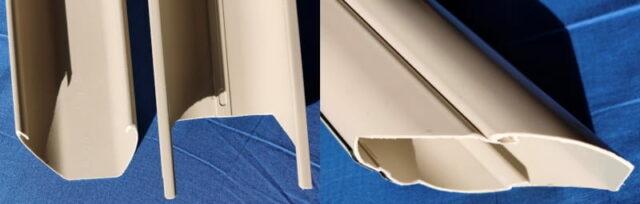 別の部屋のPCを操作&使用する方法_屋外配線(外壁側DIY)_エアコンダクトを避けるため、ケーブルカバー加工