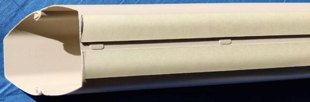 別の部屋のPCを操作&使用する方法_屋外配線(外壁側DIY)_ケーブルカバー&ウォールコーナー固定_強力両面テープを貼付