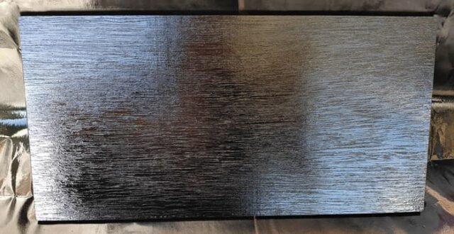 バイクのホムセン箱選び+取り付け&固定方法_補強板を黒塗装