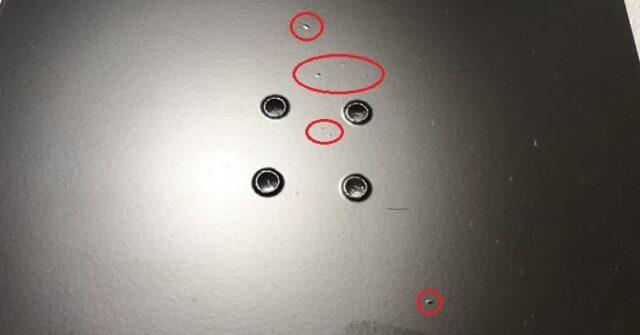 CLASSICPRO MST開封&使用レビュー_天板に気泡もしくは塗料