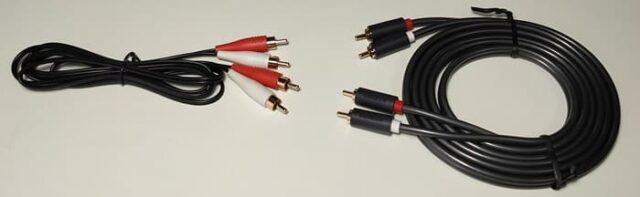 Edifier R1280DBsレビュー_付属のケーブルとUGREEN RCAケーブル比較