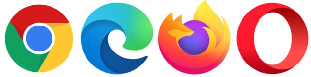 4大ブラウザ(Chrome・Microsoft Edge・Firefox・Opera)