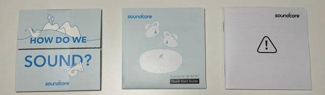 Anker soundcore LIFE A2 NC_アクティブノイズキャンセリングイヤホン_外観レビュー_取扱説明書など