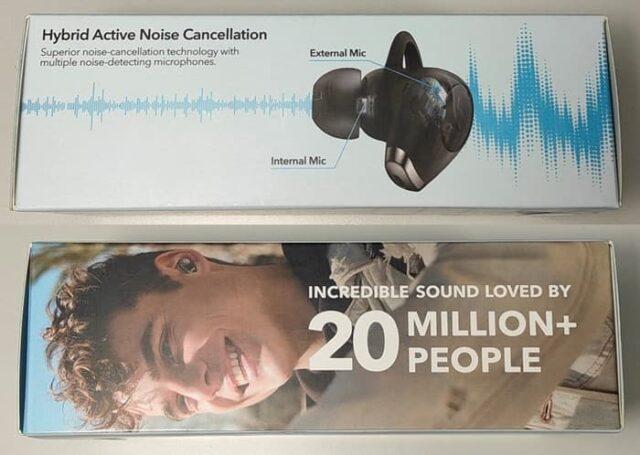 Anker soundcore LIFE A2 NC_アクティブノイズキャンセリングイヤホン_外観レビュー_箱側面